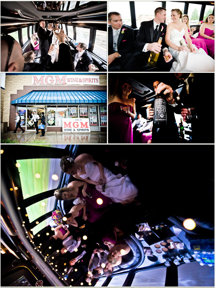Wedding Photographs in Limo in Minneapolis Minnesota