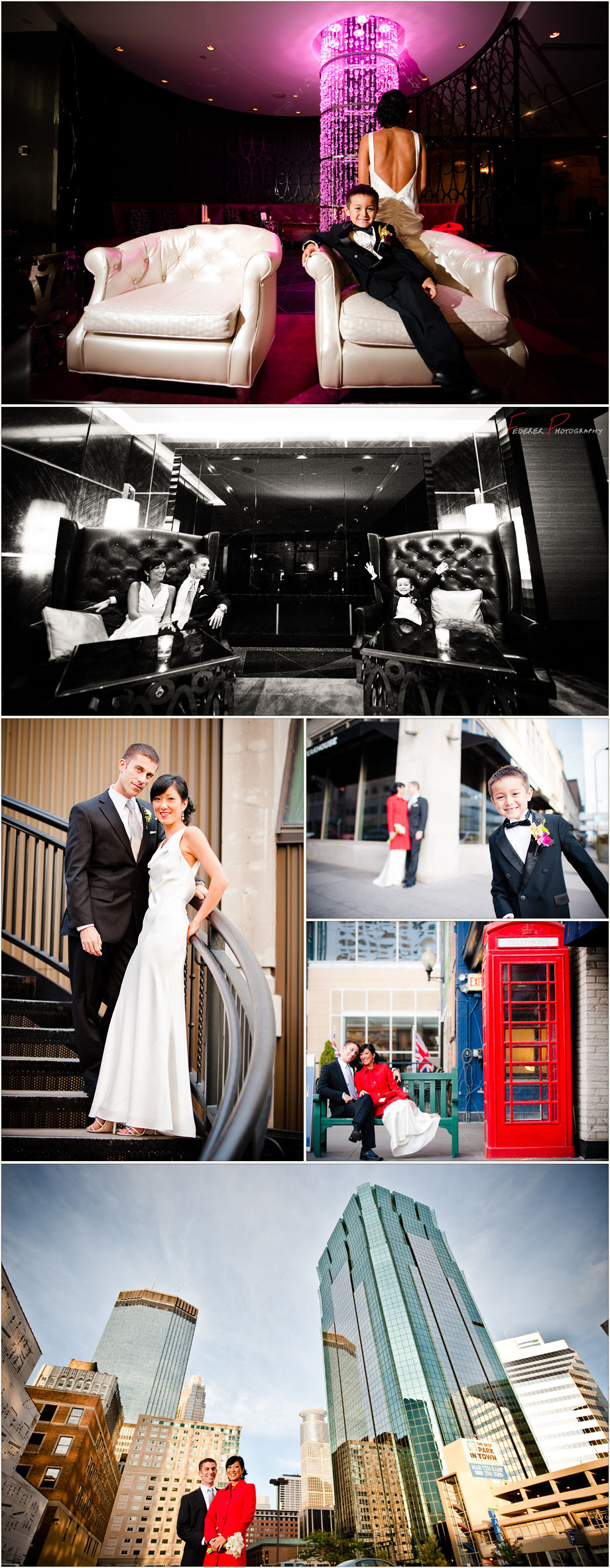 Wedding Photographs from Downtown Minneapolis, Minnesota