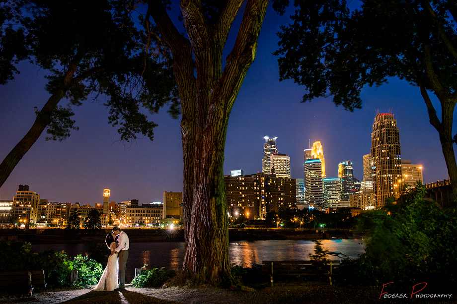 St. Anthony Main Minneapolis Wedding Photograph